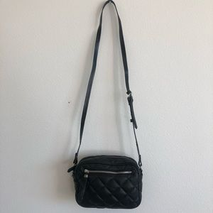Zara quilted tote black